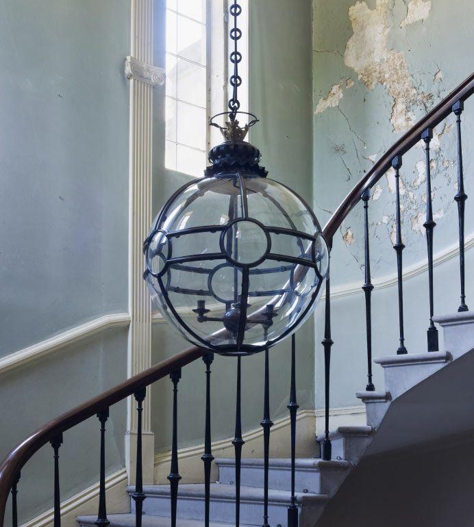 Large Convex Globe Hanging Lantern