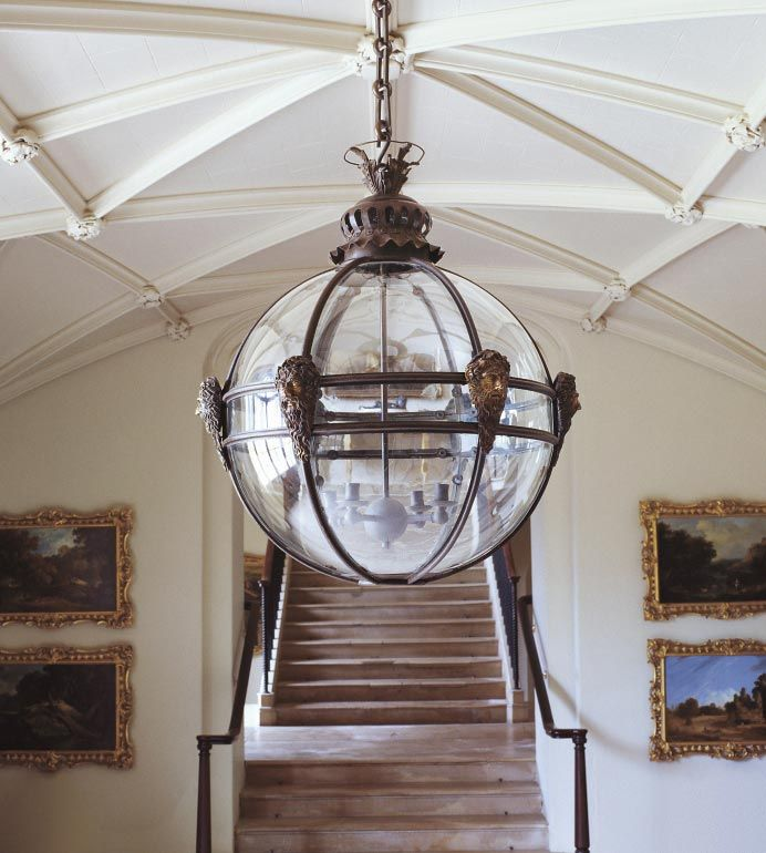Mask Globe Hanging Lantern