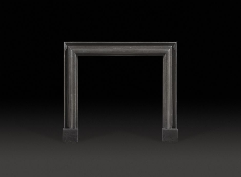 Bolection Fireplace in Black Marble