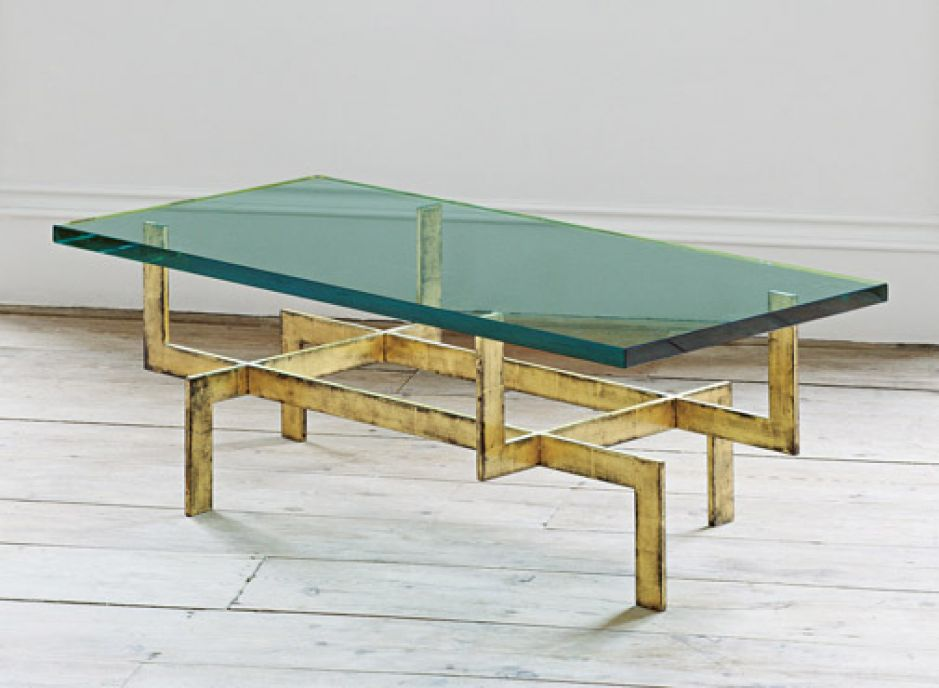 French Glass Coffee Table