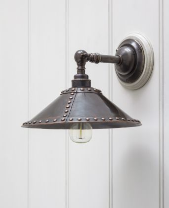 Croft Wall Light with Studded Shade